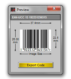 Barcode X Image Creation Software